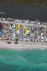 outlined map of Hollywood Beach Hotel locations