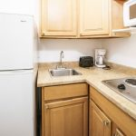 kitchenette in hotel suite at Hollywood Beach Hotels